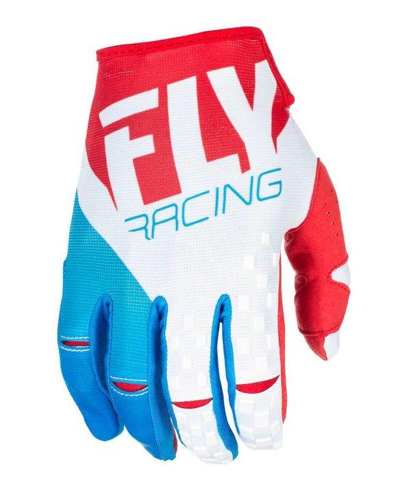 Fly Racing Fly Kinetic Hanske Rød/Hvit/Blå