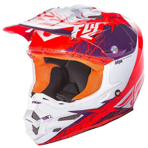 Fly Racing F2 Carbon MIPS Hjelm - Purple Orange