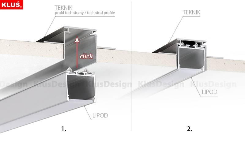 Klus Design Teknik clip bevestiging voor Teknik profielen
