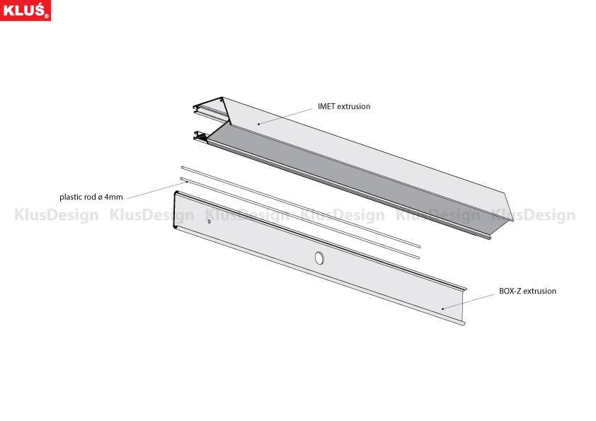 Klus Design Klus Design IMET aluminium profiel (badkamerverlichting)