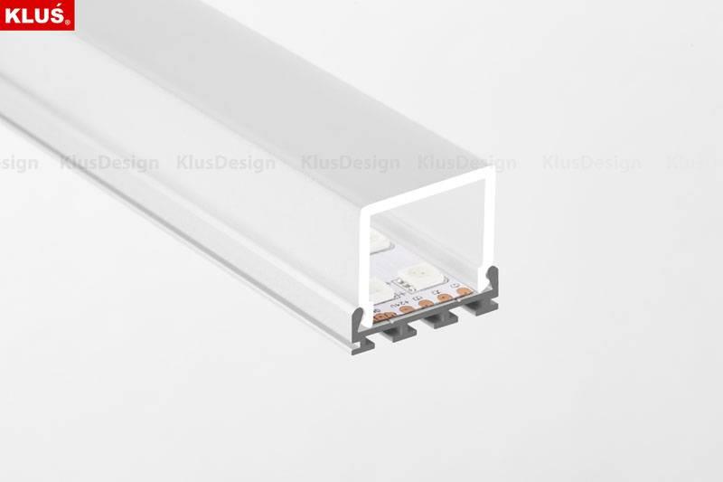 Klus Design GIP profiel met vierkante cover
