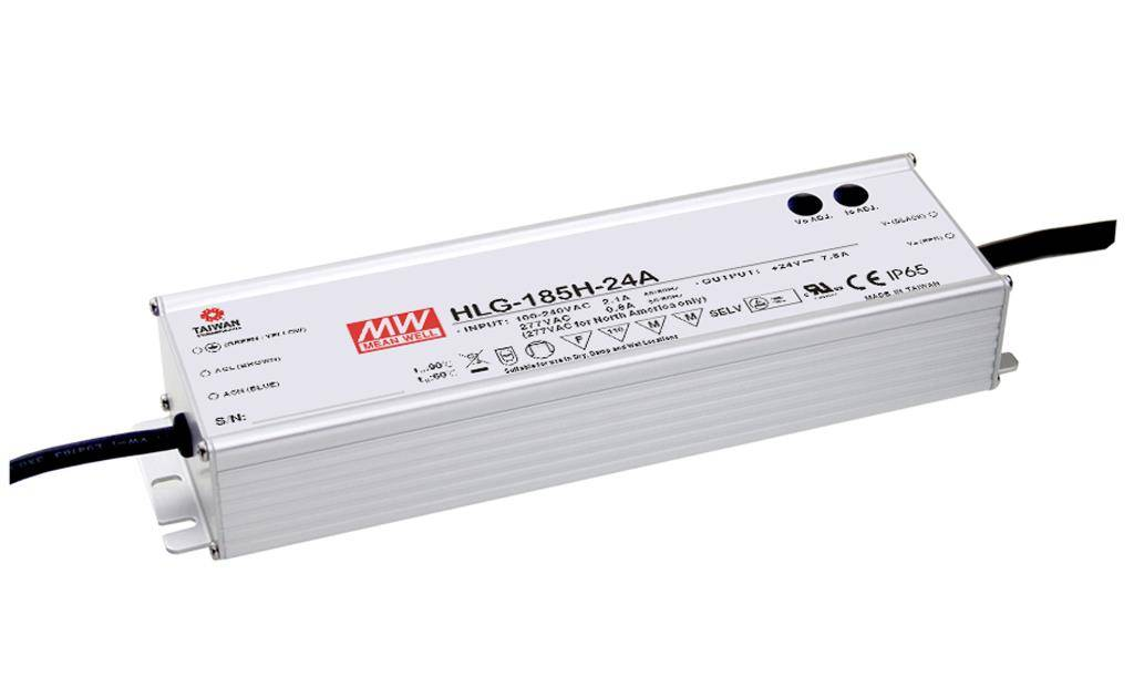 Mean Well 24V LED Voeding HLG 185W IP67