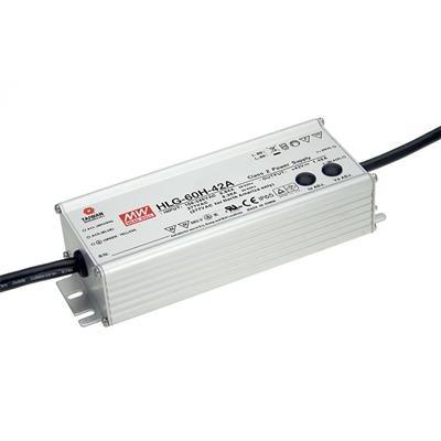 Mean Well 24V LED Voeding HLG 60W IP65 1-10V DIMMING