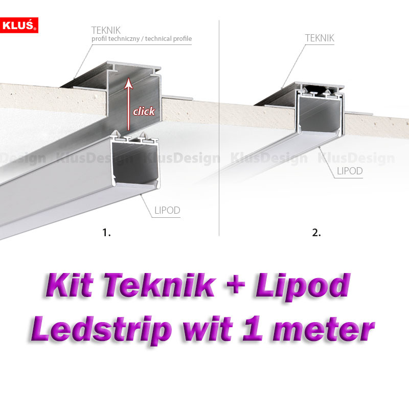 Klus Design Gyproc inbouwprofiel Teknik + Lipod 1m