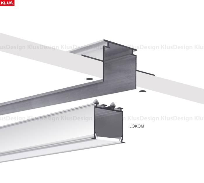 Klus Design Aluminium inbouwprofiel Gipskarton TEKNIK - colli eindereeks