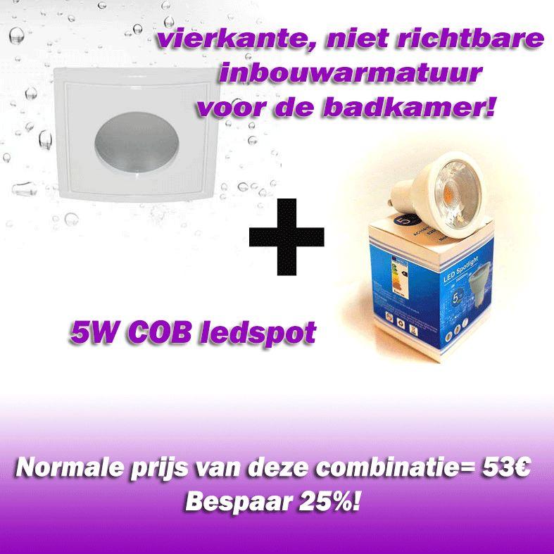 Vallas Inbouwkit Indigo HD1050S IP65 inclusief LED lamp