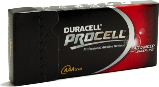 Duracell 10 Pack Procell AAA Batterijen