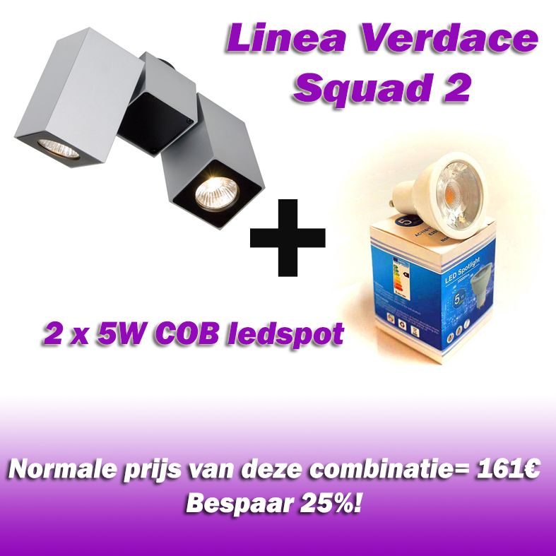 Vallas Opbouwkit Linea Verdace Squad 2 inclusief LED lamp