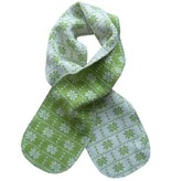 Hopsan Hopsan Snowstar Mini Scarf Green/Creme