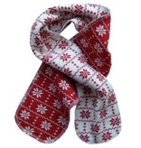 Hopsan Hopsan Snowstar Mini Scarf Red/Creme