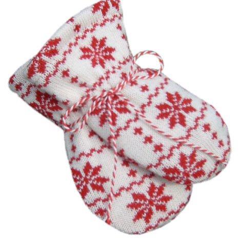 Hopsan Hopsan Snowstar Mini Gloves Creme/Rood