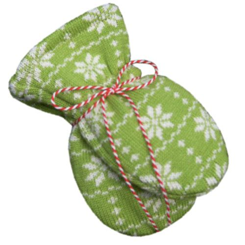 Hopsan Hopsan Snowstar Mini Gloves Groen/Creme