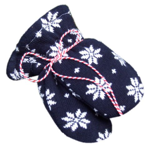 Hopsan Hopsan Snowstar Mini Gloves Navy/Creme