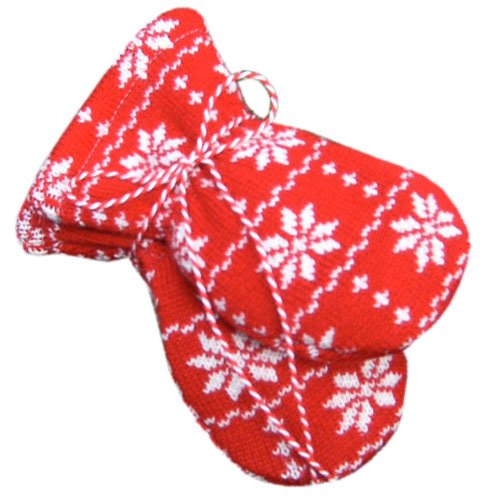 Hopsan Hopsan Snowstar Mini Gloves Red/Creme