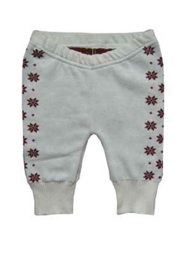 Hopsan Hopsan Solid Snowstar Pant Creme/Rood