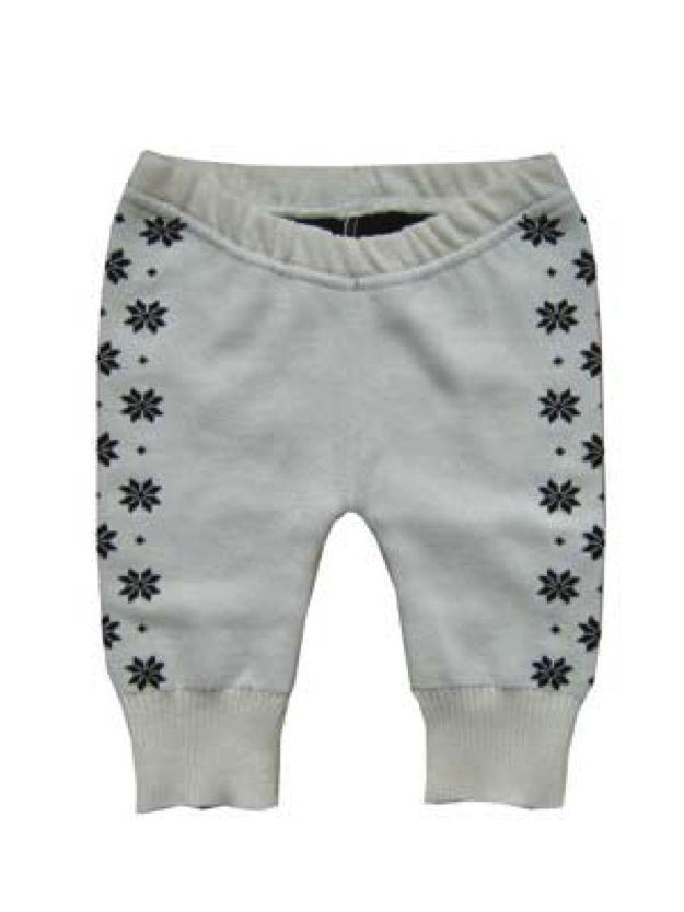 Hopsan Hopsan Solid Snowstar Pant Creme/Marineblauw
