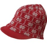 Hopsan Hopsan Snowstar Cap Rood/Creme
