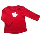 Hopsan Hopsan Clover Long Sleeve Shirt Red/Creme
