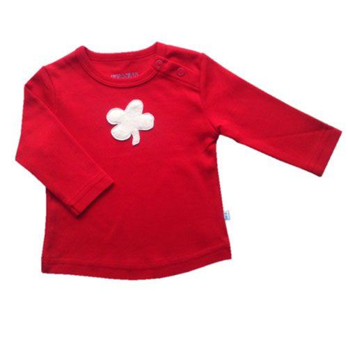 Hopsan Hopsan Clover Long Sleeve Shirt Rood/Creme