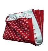 Hopsan Hopsan Blanket XL Rood/Creme