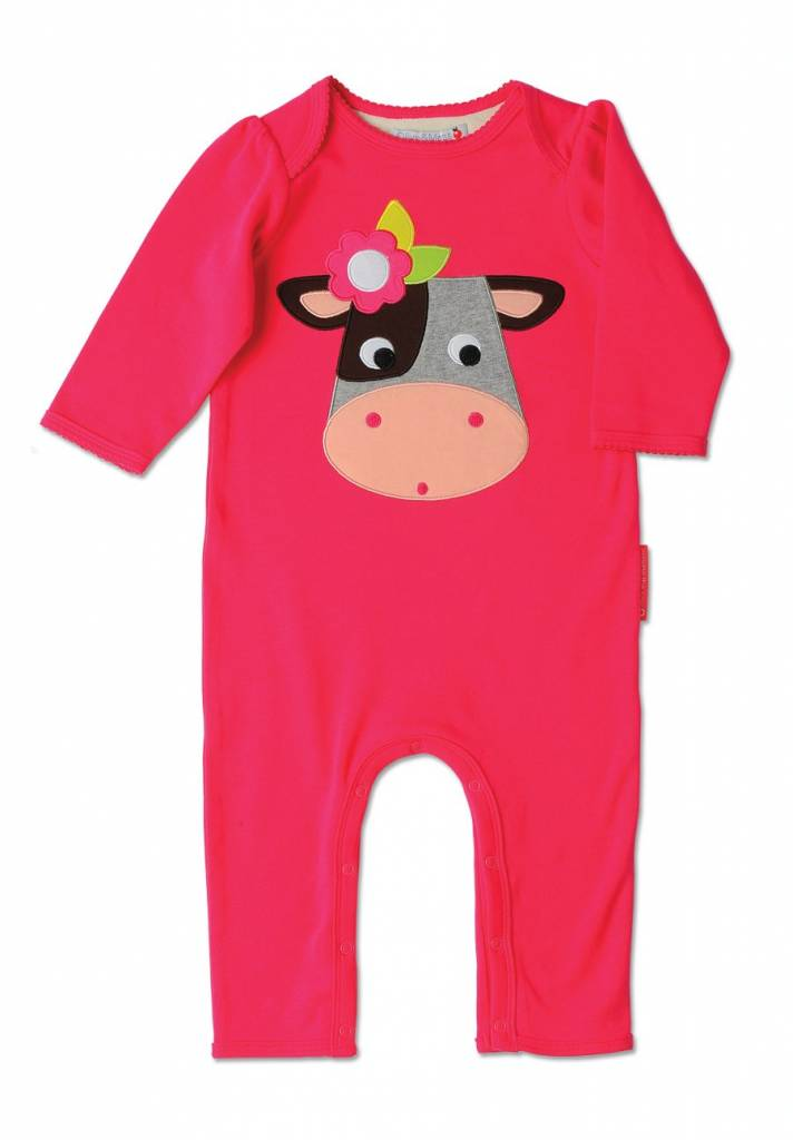 Olive & Moss Olive & Moss Collette the Cow Applique Playsuit