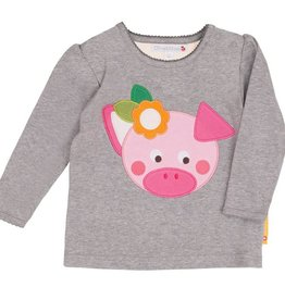 Olive & Moss Olive & Moss Peggy the Pig Long Sleeved T-Shirt