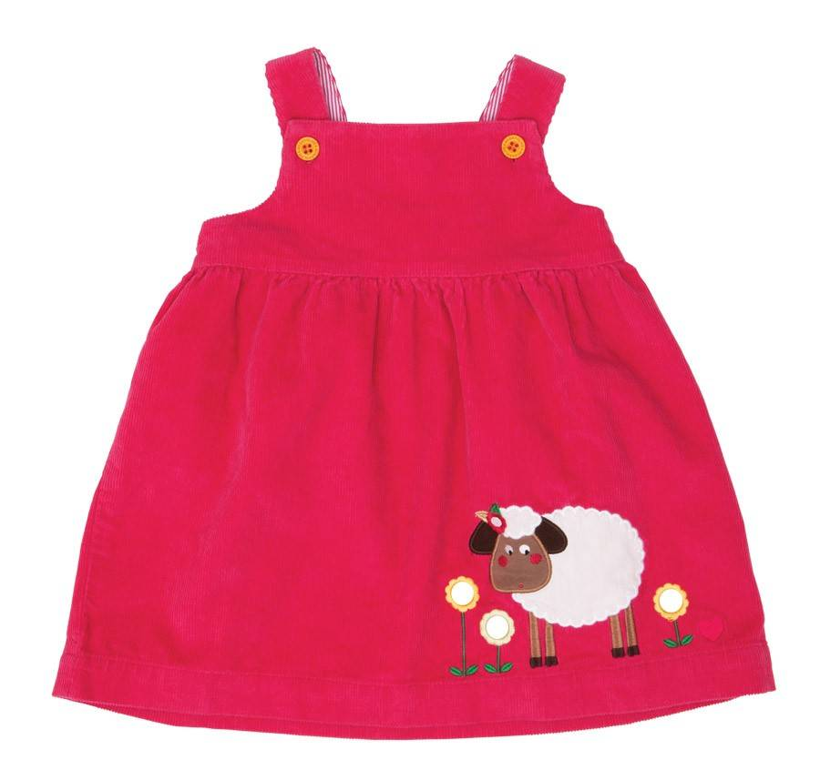 Olive & Moss Olive & Moss Sheila the Sheep Corduroy Pinafore Dress