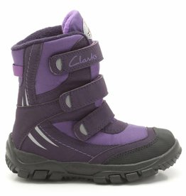 Clarks Clarks Snow Day G Purple Synthetic Infant Snowboot