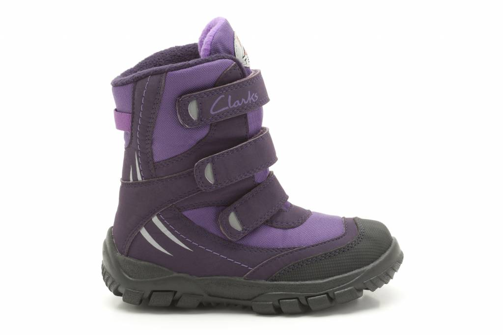 Clarks Clarks Snow Day G Purple Synthetic Junior Snowboot