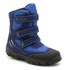 Clarks Clarks Snow Day B Navy Synthetic Infant Snow boot