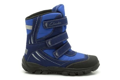 Clarks Clarks Snow Day B Navy Synthetic Junior Snowboot