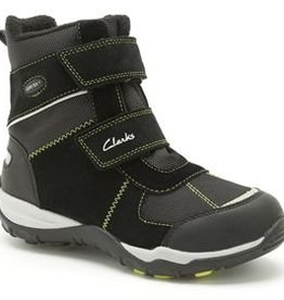 Clarks Clarks Hux Ice GTX Black Suede Junior Snow boot