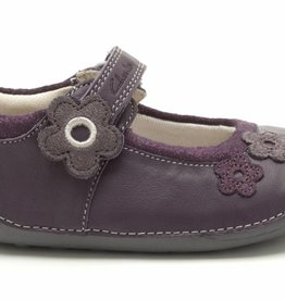 Clarks Clarks Little Candy Purple Leather First