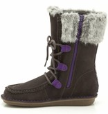 Clarks Clarks Snuggle Wall Dark Grey Suede Junior