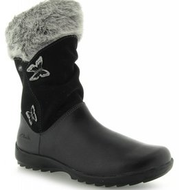 Clarks Clarks Arlina Go GTX Black Leather Junior Snowboot