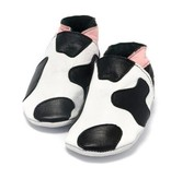 Baby Dutch Baby Dutch Pink Leather Cow Slippers