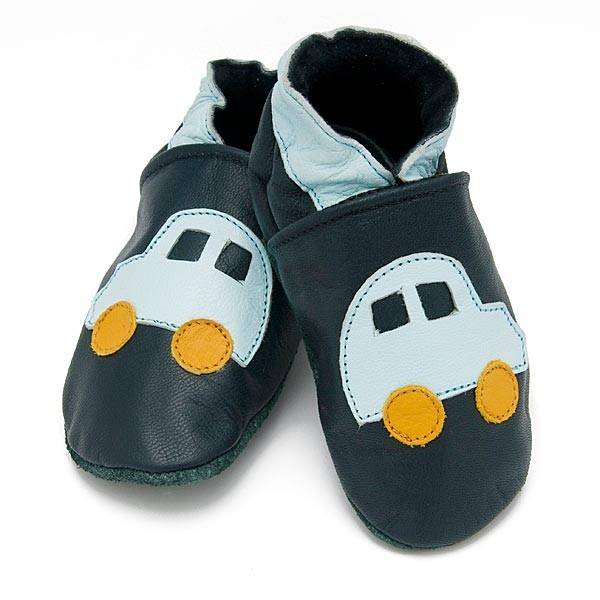 Baby Dutch Baby Dutch Leather Slippers with Car