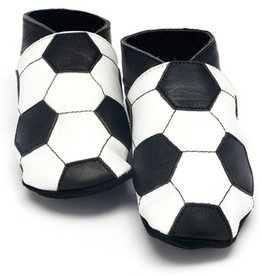 Baby Dutch Baby Dutch Leather Slippers with Football Design