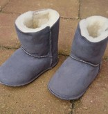Baby Dutch Baby Dutch Wool Lined Ankle Boot Slippers Grey