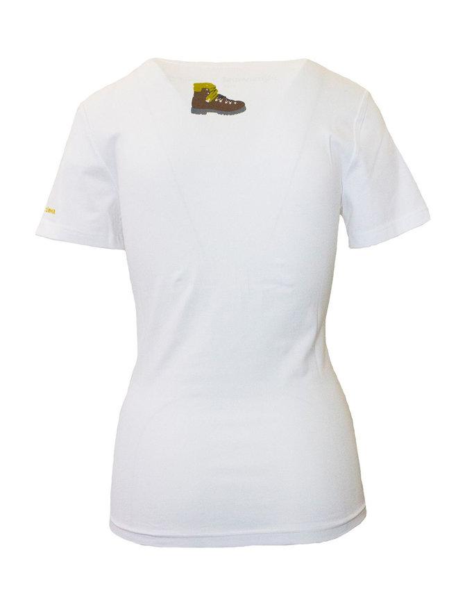 """Damen T-Shirt """"Gipfelstürmer"""" weiß"""