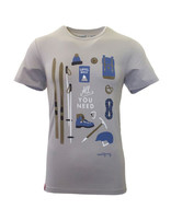 "Herren T-Shirt ""All you need"" grau"
