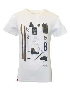 "Herren T-Shirt ""All you need"" weiß"