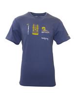 "Herren T-Shirt ""Gipfelstürmer"" blau"