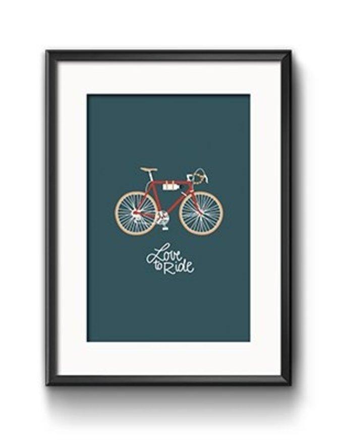 Art Print Love to ride