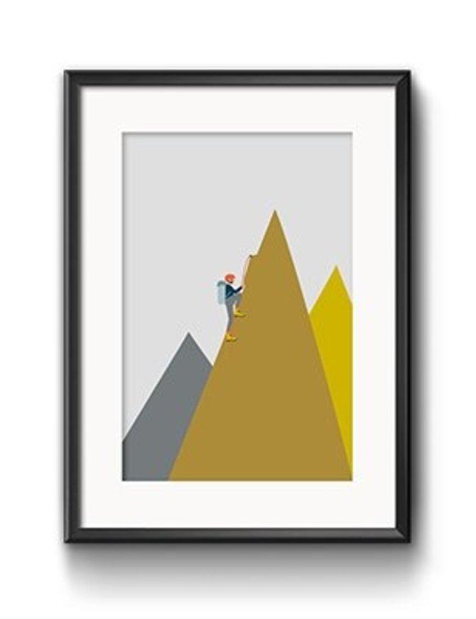 Art Print Bergsteiger