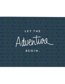 Postkarte Let the adventure begin