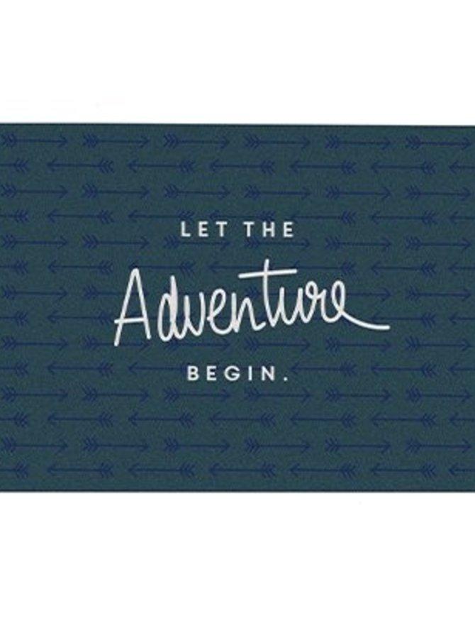 Postcard Let the adventure begin