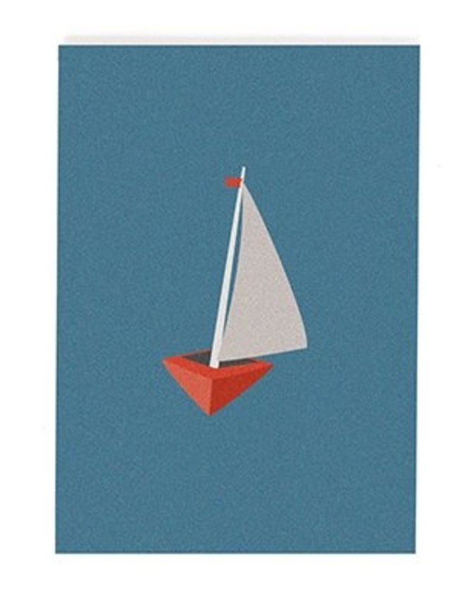 Postkarte Segelboot