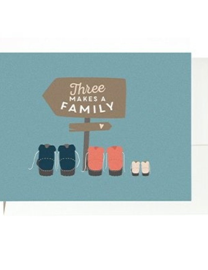 Grußkarte 3 makes a family