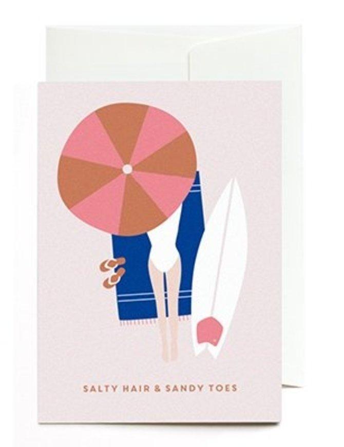 Grußkarte Salty hair